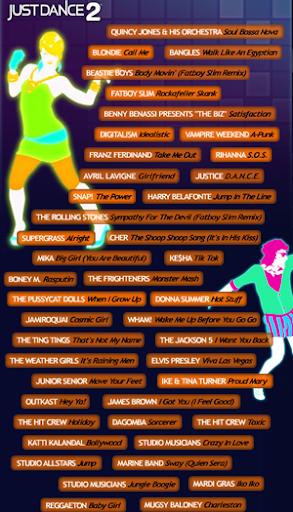 lista canciones just dance%202 Just Dance 2 - El juego definitivo para tus fiestas