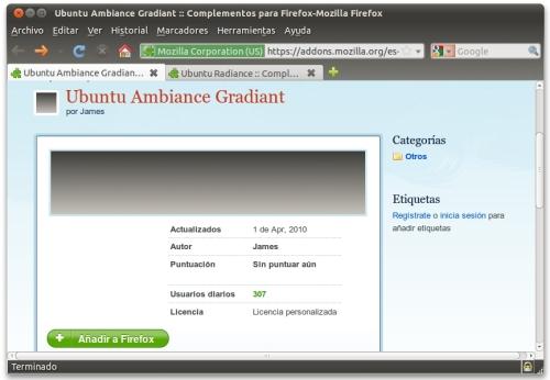 screenshot1 Haz que tus navegadores vistan la misma piel que Ubuntu
