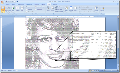 The final ASCII image
