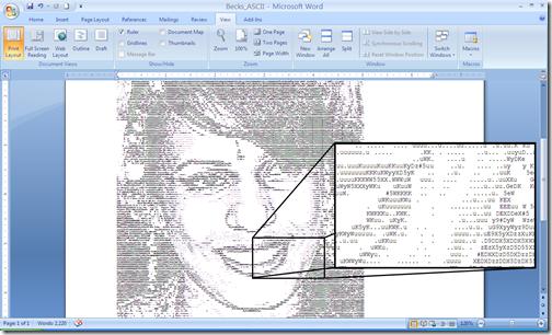 The final ASCII image