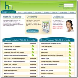 HostMonster hosting features