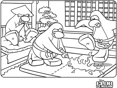 club penguin coloring pages to print - saraapril in club penguin sensei and card jitsu game