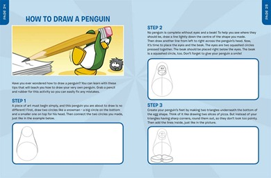 how to draw a club penguin penguin
