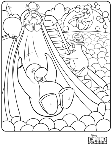 You Can PRINT Out This Picture See Earlier Club Penguin Fair Coloring Pages