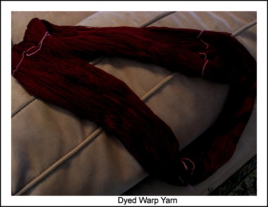Dyed Silk Warp