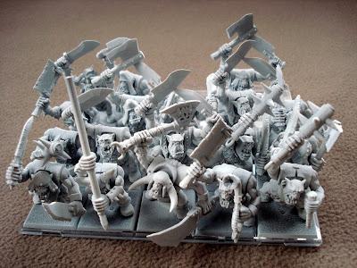 regiment orków z białym podkładem