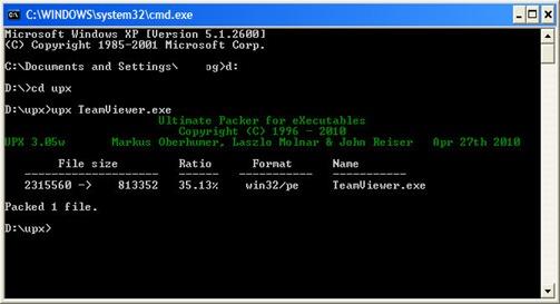 Proses kompres file exe