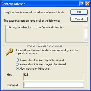 Cara Block/Blokir Website/Situs di Internet Explorer ·July 30th, 2010