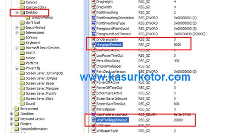 Percepat Waktu Shutdown Windows Xp Lewat Registry