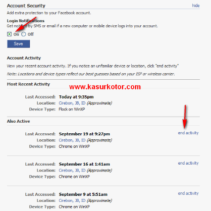 Logout Facebook Dari Jarak Jauh - Remote Logout