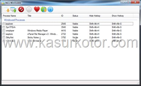 Menghilangkan Program Yang Berjalan dari Taskbar windows