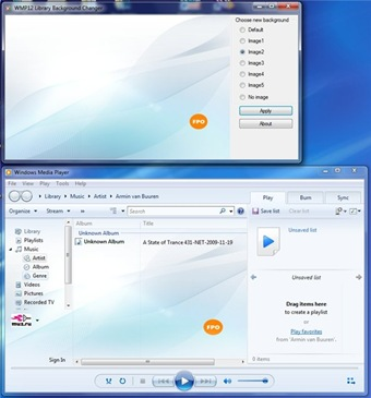 Mengganti Background Windows Media Player Library