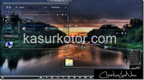 Mempercantik Tampilan Desktop Windows 7 dengan In Vitro