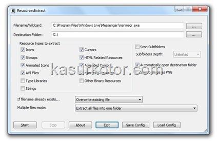 Ekstrak Gambar, Ikon atau Kursor dari file exe (executable files)