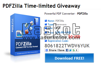 Gratisan: PDF Converter PDFZilla Seharga $29,95