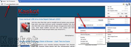 Membuat Halaman Website/Blog Menjadi Aplikasi Desktop