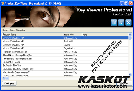 Office Product Key Viewer untuk Mencari Serial Number