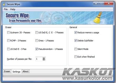 Menghapus File Secara Permanen Dengan Secure Wipe