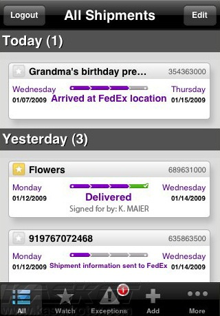 FedEx launches application for iPhone and Blackberry