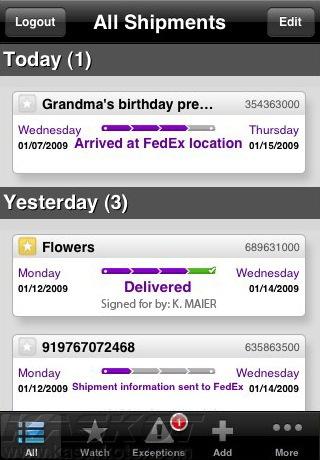 fedex for iphone