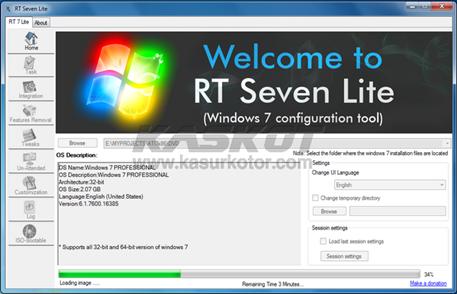 Mempercepat Kinerja Windows 7 - Se7en RT Lite