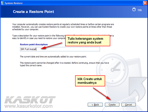 system restore 2