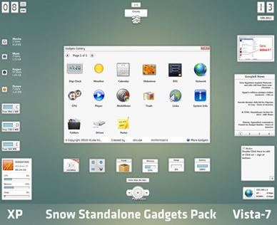 Beautiful Gadgets for Windows 7 and Vista