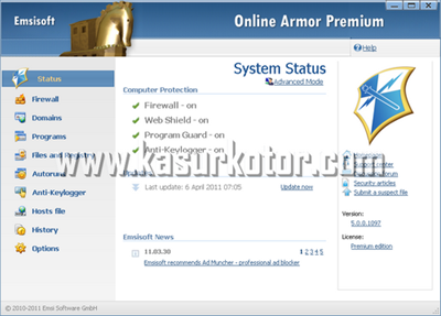 Download Online Armor Firewall 5.0