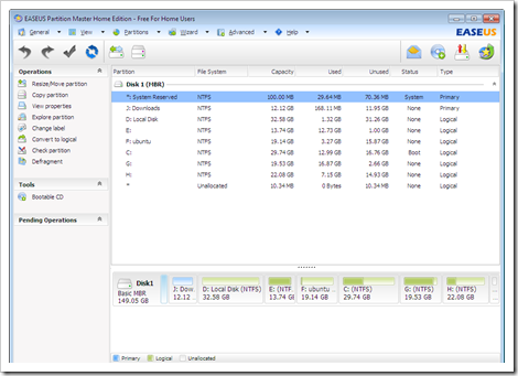 Download EASEUS Partition Master Home 8