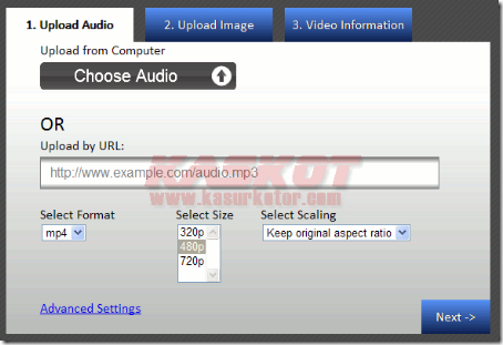 Upload Mp3 ke Youtube