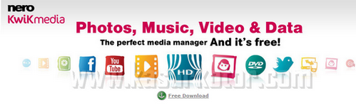 Nero Kwik Media, All In One Multimedia Manager