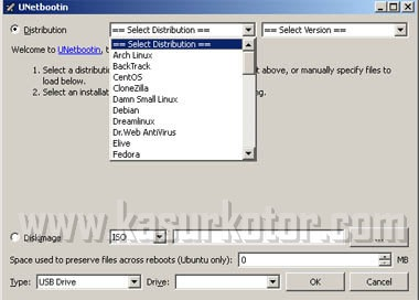 Cara Membuat Bootable Linux USB Flash Disk - UNetbootin
