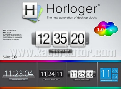 Download Horloger Final HTC Desktop Clocks