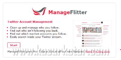 Membersihkan dan Mengelola Akun Twitter - Manage Flitter