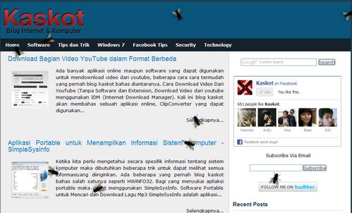 lalat di blog kaskot