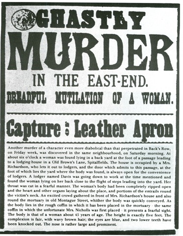 Jack the Ripper or Leather Apron wanted poster