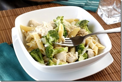 Skillet Chicken, Broccoli, and Penne