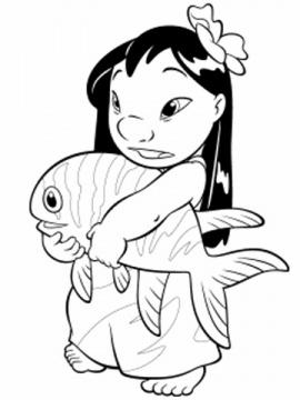 اسماك للتلوين للاطفال