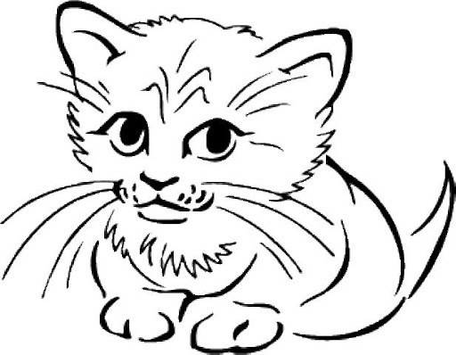 قطط للتلوين
