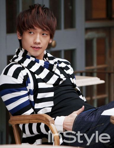 Hot hairstyle from Korean Star Bi Rain. Asian fashion short hairstyle with