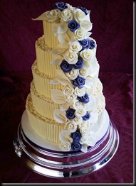 5-tier-Choco-curls-and-Purple-Roses