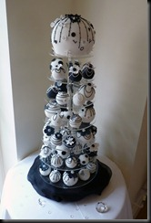 Bauble Cake Black and White