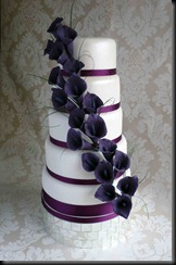 5-tier-Purple-Lillies-Wedding-Cake