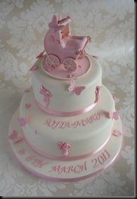 2-tier-pram-christening-cake