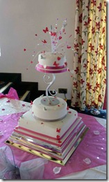 3-tier-pink-heart-and-butterflies-wedding-cake