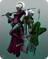 Drow_Twins_by_Cyzra