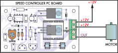 Layout while connecting motor to the circuit