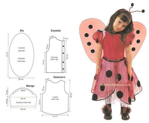Disfraz de mariquita para ni a con patrones - Disfraz de mariquita de nina ...