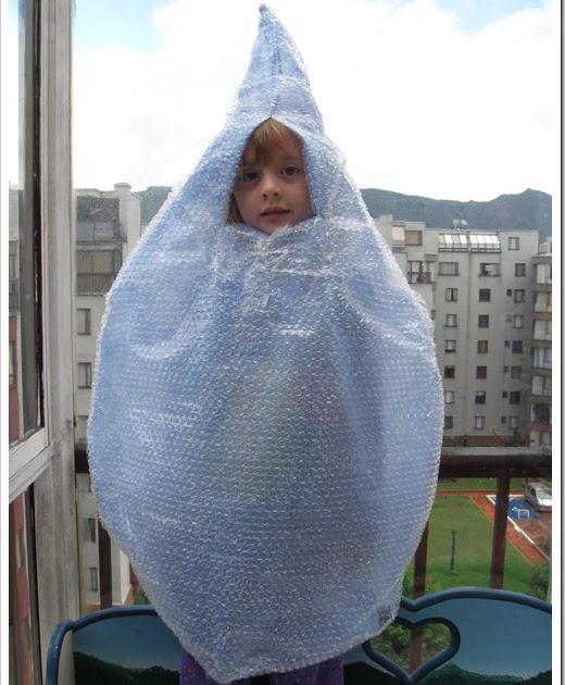 Como hacer un disfraz casero de gota de agua