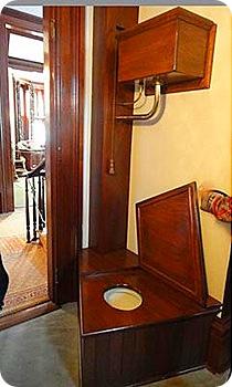 Indoor plumbing...toliet.